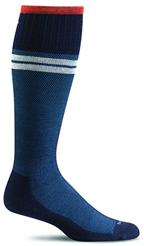 Sockwell Men's Sportster Compression Socks, Navy, Medium/Large (Best Deal On Sports Shoes In India)