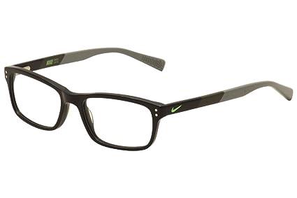 d3c18aea2f1 Amazon.com  Eyeglasses NIKE 7237 001 BLACK-CARGO KHAKI  Sports ...
