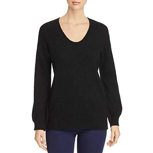 MICHAEL Michael Kors Womens Wool Long Sleeves Sweater Black (Michael Kors Black Wool)