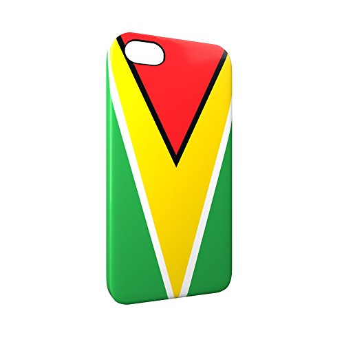 Flag of Guyana Glossy Hard Snap-On Protective iPhone 5 / 5S / SE Case Cover