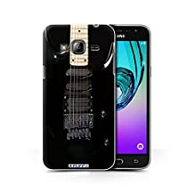 STUFF4 Phone Case / Cover for Samsung Galaxy J3 / Black Electirc Design / Guitar Collection