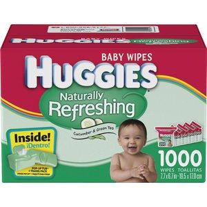 Huggies Baby Wipes Naturally Refreshing w/Cucumber & Green Tea 1000 ct by HUGGIES