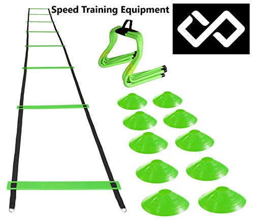 The Best Speed & Agility Ladders, Cones & Hurdles Package Deal on Amazon. Accelerate Your Speed and Explosion for Your Sport. Equipment for All Athletes to Improve Their ()