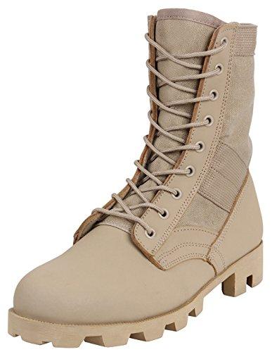 Tan Rothco Type 8'' Desert Boot GI Jungle 66qHYwZO