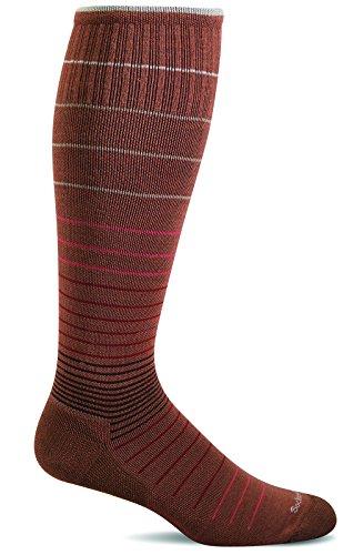 Terra Cotta Bamboo (Sockwell Women's Circulator Graduated Compression Socks, Terracotta, Small/Medium)