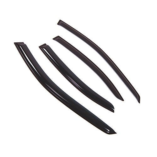 Tuningpros Window Visor Compatible With 2001-2007 Mercedes-Benz C240 C320 C230, DGWV2-508 Outside Mount Deflector Rain Guard Dark Smoke, 4 Pcs Set