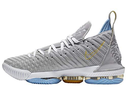 Nike Men's Lebron 16 Lebron James/Wolf Grey/White Mesh Basketball Shoes 11 M US