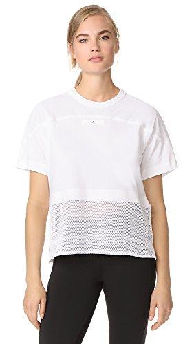 adidas by Stella McCartney Women's Essentials Mesh Tee, White, X-Small