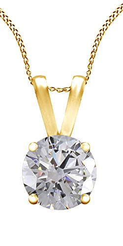 Jewel Zone US 1/2 Carat Moissanite Solitaire Pendant 18