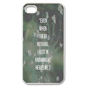 Citas de Biblia Parason iPhone 4/4s case for Girls cute, case for iphone 4S [blanco] cheap
