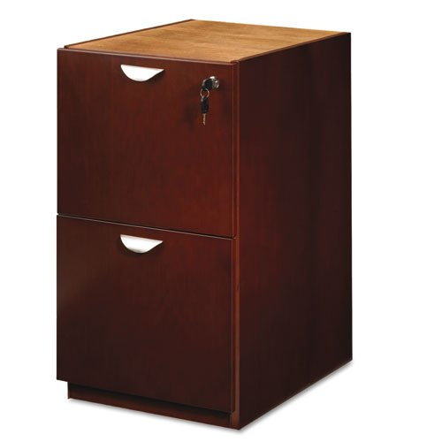 Mira Series File/File Desk Pedestal, 15w x 28d x 27 h, Medium Cherry by MAYLINE (Catalog Category: Furniture & Accessories / File Cabinets)