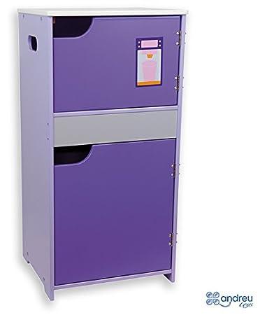 Andreu Toys 39 x 33 x 80 cm Modular Kühlschrank Lila Spielzeug ...