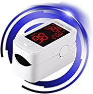 Pulse O_ximeter, Heart Rate Monitor with Lanyard, Compact and Portable-White
