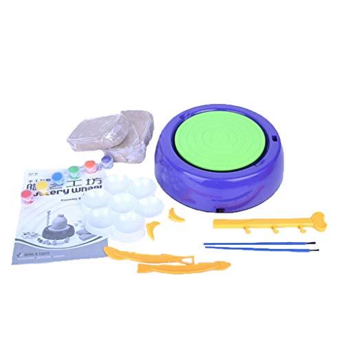 Electric Portable Mini DIY Handmake Ceramic Pottery Machine Pottery Wheels Kids Arts Craft Children Educational ()