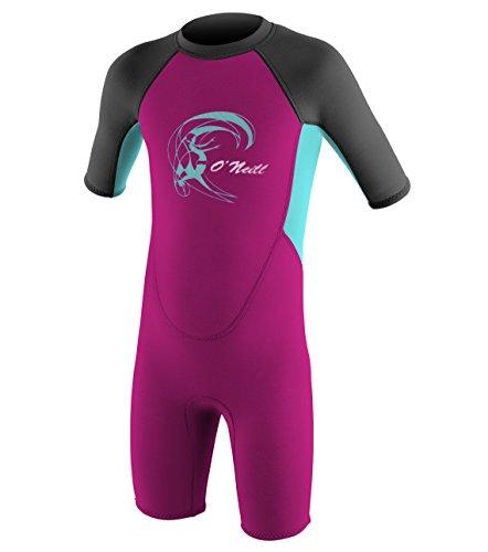 tor 2mm Back Zip Short Sleeve Shorty Wetsuit 6-12 Months Berry/Light Aqua/Graphite ()