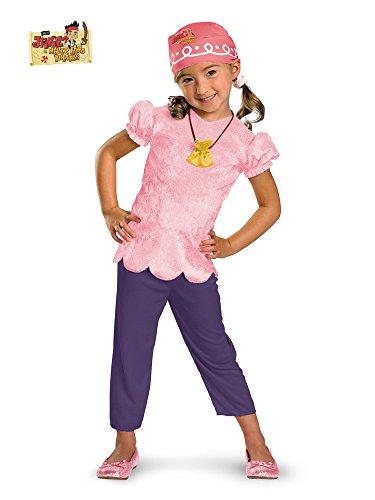 [Disney Jake And The Neverland Pirates Izzy Classic Costume, Pink/Purple, Toddler Medium] (Jake And The Neverland Pirates Halloween Costumes)