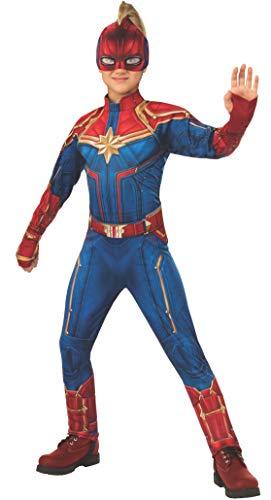 Rubie's Captain Marvel Children's Deluxe Hero Suit, Small 700597 from Rubie's