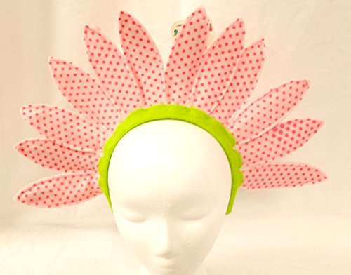 [Hanover Accessories Pink Daisy Sunflower Flower Party Polka Dot Headband] (Flower Headband Costumes)