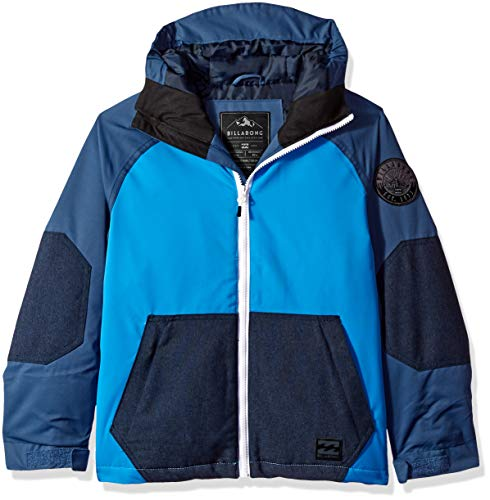 Billabong Big Day Boys Insulated Snow Jacket, French Blue, L