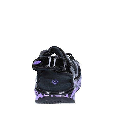 MBT Mujer zapatos con correa Negro Púrpura