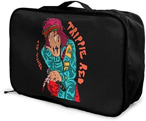 トラベルポーチ アレンジケース トリッピー レッド 旅行収納バッグ 衣類収納バッグ 収納専用ポーチ 手提げ 短期出張 多機能 ファスナー 収納便利グッズ 軽量 大容量 便利 ビジネス 海外旅行 整理用