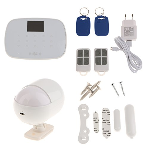 MonkeyJack Home House Security Alarm System Wireless GSM IOS Android APP Controlled White MonkeyJack