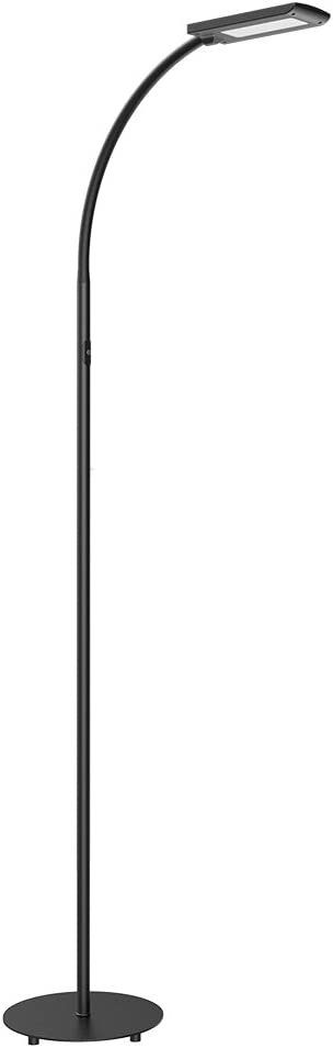 Hommini Led Lampadaire De Sol Lampadaire Sur Pied 5 Niveaux De Luminosité 12w 172cm 3 Longueurs Adjustables Avec Aluminium Acier Matériel