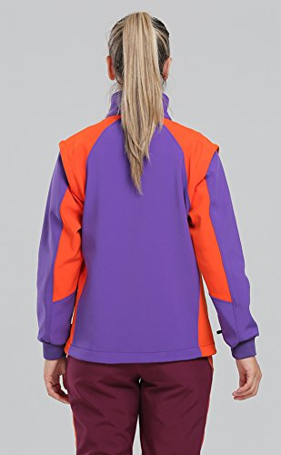 deportes moda Chaleco de mujeres la de Púrpura de los cremallera polar completa de Sanke la de invierno Chaquetas de desmontable las qw6pTX7Px