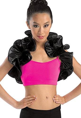 [Balera Dance Costume Satin Ruffle Shrug] (Dance Costumes Kids Jazz)