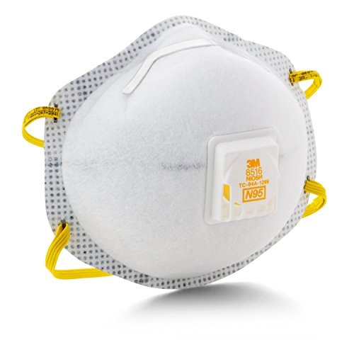 3M 50051138663921 8516 N95 Particulate Respirator with Nuisance Level Acid Gas Relief (Pack of 10)