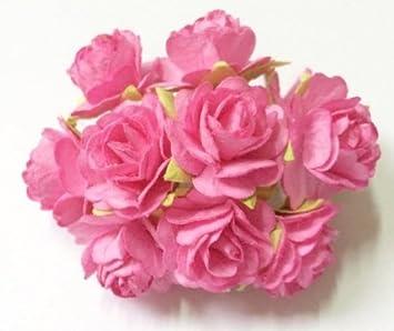 Amazon Studio One Pink Rose Mulberry Paper Flower 20 Mm Scrap