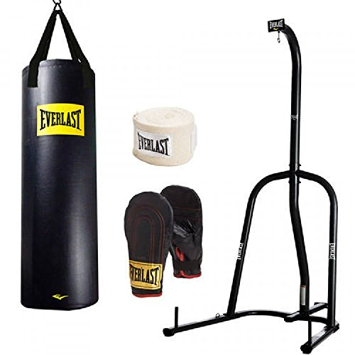 Beastly Gen Gyms and Everlast Punching Bag Everlast Heavy Bag Kit with Stand (100)