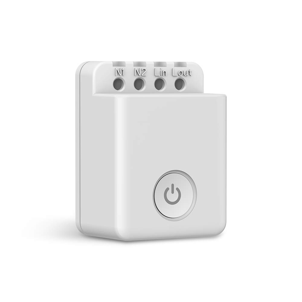 BroadLink WiFi Smart Switch,10 amp Timer Outlet/DIY Home Automation-Works with Alexa, Google Assistant & IFTTT, No Hub Required (SCB2)