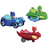 PJ Masks 3 Mobile Vehicles Bundle CAT CAR, OWL GLIDER and GEKKO MOBILE