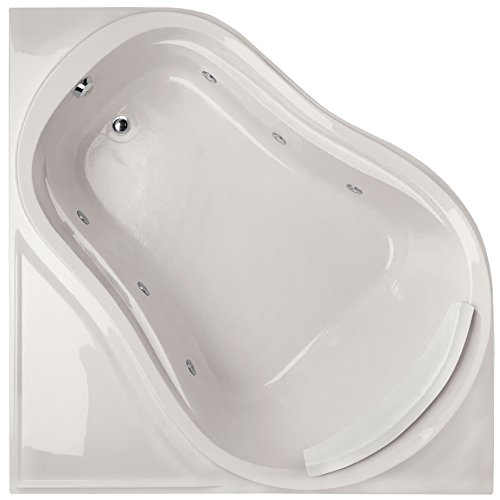 Eclipse Tub Acrylic (Hydro Systems ECL6464AWP-WHI-WOV.SN Eclipse Acrylic Tub with Whirlpool System (Drain Included), White/Satin Nickel)