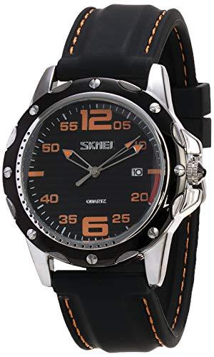 Relógio Masculino Skmei Analógico 0992 - Preto e Laranja