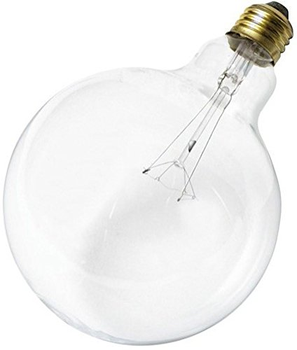 Satco S3013 Incandescent Light Bulb, Clear Finish, 100 Watts, 120 Volts, 1150 Initial Lumens, G40 Lamp Shape, Medium Base, E26 ANSI Base, 100G40 Lamp Code, 4000 Average Rated Hours ()