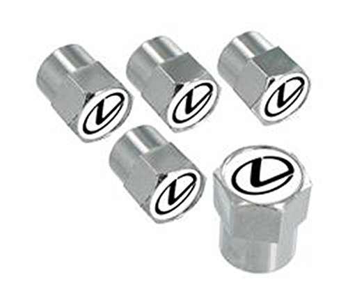 Lexus Chrome Valve Stem Caps - (Set of 5)