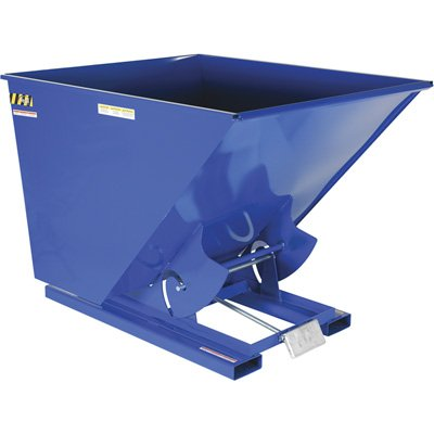 (2 Cu. Yd. Self-Dumping Steel Hopper with Bump Release, 2000 Lb, Vestil D-200-LD, Lot of 1)