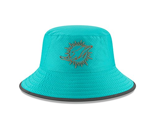 New Era Miami Dolphins Aqua 2018 NFL Training Camp Official Bucket Hat - Miami Dolphins Training Camp