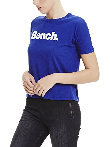 Bench Grown On Sleeve, Corp Print Tee, Camiseta para Mujer Blau (YVES BLUE BL11216)