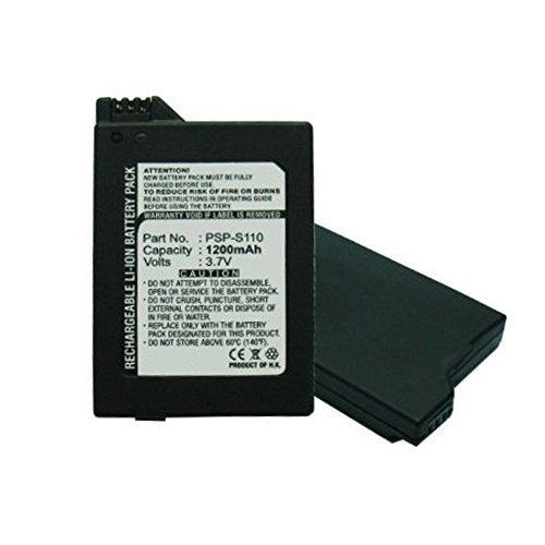 Replacement 1200mAh PSP-S110 PSPS110 Battery for Sony PSP Slim Portable Playstation PSP-2000, PSP-2001, PSP-3000, PSP-3001, PSP-3002, PSP-3004