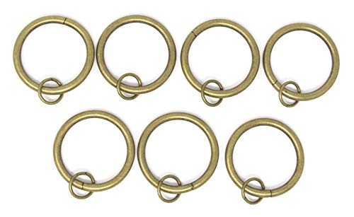Brass Curtain Rings - Urbanest Set of 28 1 1/2