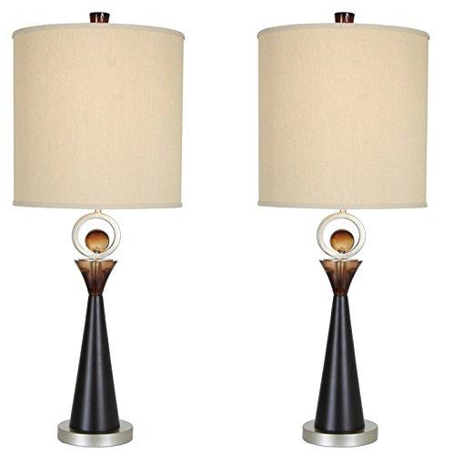 (Van Teal 130772PR Occasion Table Lamps (Set of 2), Black, 2)