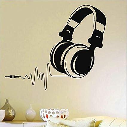 Vinilos De Pared De Vinilo Caliente Dj Auriculares Audio