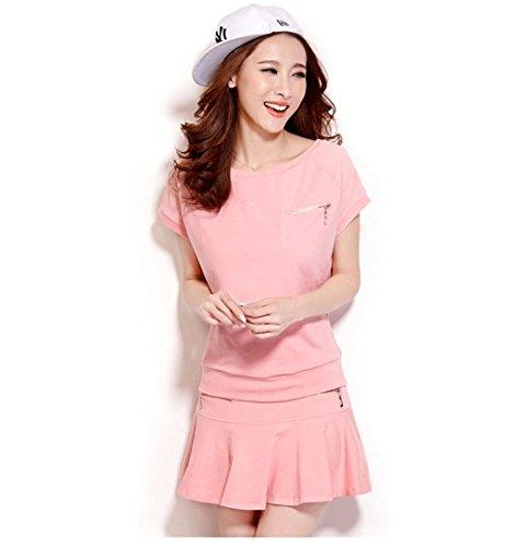 KEIMI(ケイミ) レディース ゴルフウェア 上下 セット ポロシャツ スカート カジュアル 水玉柄 可愛い スポーツウェア 全6色