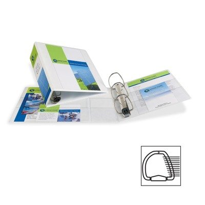 Avery Nonstick Heavy-Duty EZD Reference View Binder, 4in Capacity, White