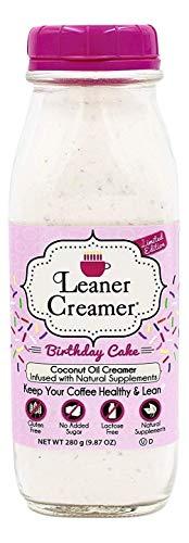 Leaner Creamer- Coffee Creamer Powder: Keto | Non-Dairy | Paleo | Sugar Free- Birthday Cake (280g)