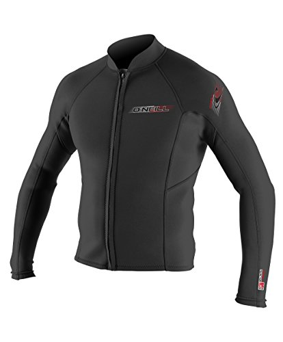 O'Neill Wetsuits Mens Superlite Jacket, Black, X-Large (Front Zip Wetsuit)