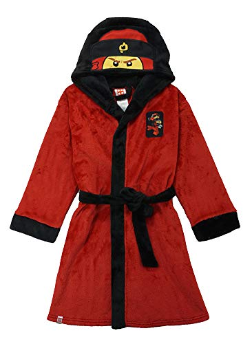 LEGO Ninjago Little/Big Boys Costume Plush Robe, Kai Red, 8